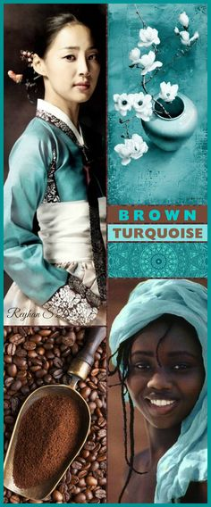 '' Turquoise & Brown '' by Reyhan S.D. | Try these colors in an Acrylic Dirty Cup Pour.