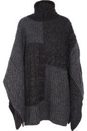 Étoile Isabel MarantRaquel patchwork knitted cape
