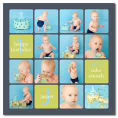 this is the best idea for first birthday photos ever. cake smash!