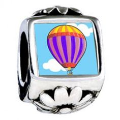 Travel Beauty Of Hot Air Balloon Photo Flower Charms  Fit pandora,trollbeads,chamilia,biagi,soufeel and any customized bracelet/necklaces. #Jewelry #Fashion #Silver# handcraft #DIY #Accessory