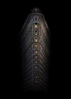 the flatiron at night.