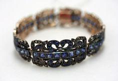 Bracelet, 1830s. austrian. Gold, diamonds, and sapphires. The Metropolitan Museum of Art, New York. Gift of Polaire Weissman, 1986 (1986.331.2).