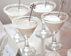 Silver Christmas wedding drinks | Pinned by @eastsix