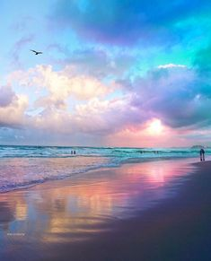Ocean, beach, and clouds Beautiful Sunset, Beautiful Beaches, Landscape Photography, Nature Photography, Night Photography, Beach Wallpaper, Sky Aesthetic, Beach Scenes, Ocean Waves
