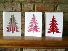 Image result for handmade fabric christmas cards