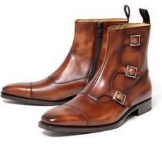 CORDWAINER Triple Monk strap boots