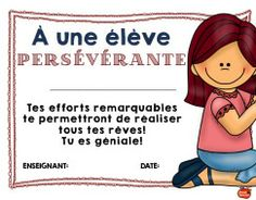La persévérance est méritoire French Teaching Resources, Teaching French, Behaviour Management, Classroom Management, French Conversation, Bucket List Life, D Avila, French Teacher, Teacher Organization