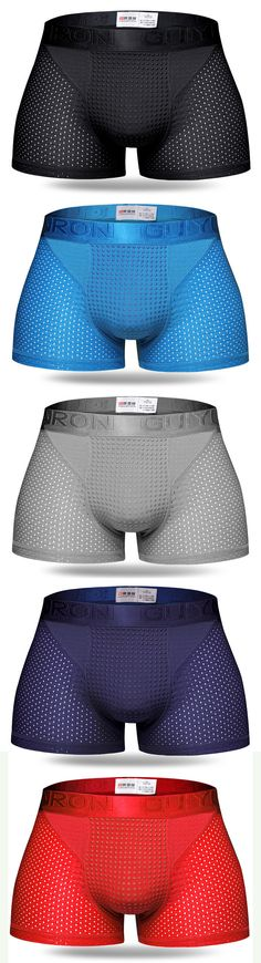 Sexy Ice Silk Mesh Breathable Magnetotherapy Healthcare Boxer For Men