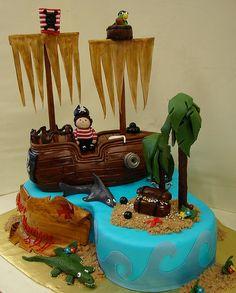 Arrr! Pirates Birthday Cake by JMC Custom Cakes, via Flickr