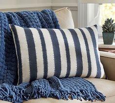 Camden Blue Stripe Pillow Cover #potterybarn