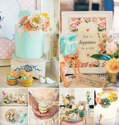 Vintage Floral High Tea Bridal Shower by Confetti & Crumbs!