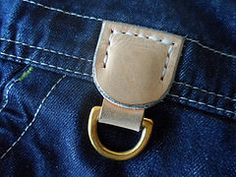 New d-ring for old dungarees, I can now use my lanyard.