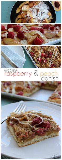 Easy Raspberry & Peach Danish