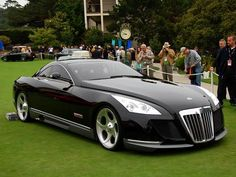 Maybach Excelero, $4 million of machine. Looks like the kind of car that Darth Vader would drive.