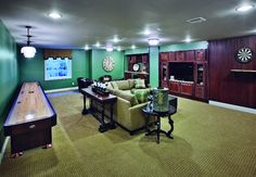 Enjoy a relaxing movie night or play some tabletop shuffleboard or even darts! (Toll Brothers at Newtown Woods, CT)