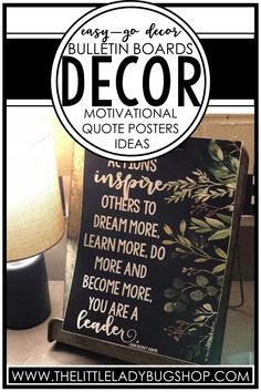 Decorate your classroom with modern farmhouse themed motivational quote posters! These beautiful inspirational posters will make your classroom walls, bulletin board, or door a place of positivity. The quotes used will encourage growth mindset, perseverance, teamwork, kindness, and more! Add these posters to your elementary classroom today. #thelittleladybugshop