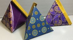 Origami Paisley Pyramid Case Print Your Own
