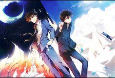 Cross-Over Image - Zerochan Anime Image Board Conan Comics, Detektif Conan, Dc Anime, Kawaii Anime, Detective Conan Shinichi, Kaito Kuroba, Gosho Aoyama, Kaito Kid, Kudo Shinichi