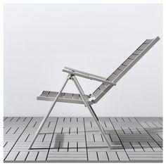 SJÄLLAND Reclining chair, outdoor – light gray foldable, light brown – IKEA – Food for Healty