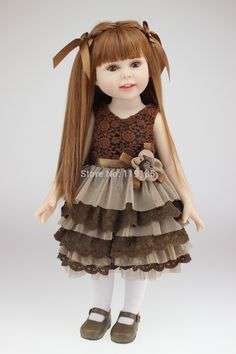 59.41$  Watch now - http://alipoe.worldwells.pw/go.php?t=32280533380 - Cheap wholesale Smiling Brown eye 18 inch American Girl Doll Toys Reborn Baby Handmade Soft sexy Girls Doll Brinquedos Toy 59.41$