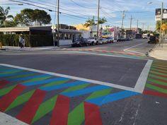 The First Wynwood Ways Crosswalks Are In & Already Gritty - Public Art - Curbed Miami