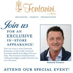 "ALL of our 2013 #Fontanini U.S. Tour Dates are now listed under our ""Events"" tab on Facebook. Click on the image for a full listing of the upcoming tour dates and locations. The Fontaninis cannot wait to give you a warm Italian welcome!"