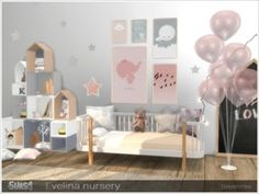 """sssvitlans: """" Created By Severinka Evelina nursery Created for: The Sims 4 A set of furniture for the design of a baby room in Scandinavian style. Furniture in a delicate pink-gray colors. The Sims 4 Pc, Sims Four, Pink Furniture, Sims 4 Cc Furniture, Toddler Furniture, Rustic Furniture, Furniture Ideas, Antique Furniture, Sims 4 Ps4"""
