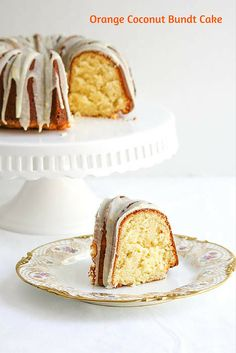 Orange Coconut Bundt Cake is a special dessert that is perfect to celebrate the change in season. It will cause you to spring into action and bake!  #SundaySupper