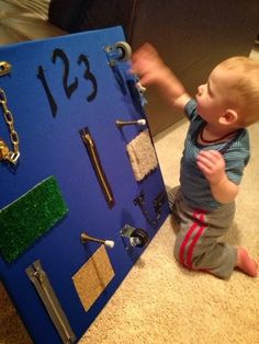 Toddler/baby Sensory board