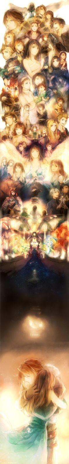 Final Fantasy VIII - vei, num sei quem fez, mas vi o jogo todinho! Xonei! (T_T)
