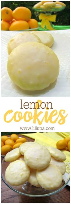 Lemon Cookies - these cookies are seriously irresistible! This recipe includes real lemon juice and lemon zest, along with a delicious lemon glaze on top! SO GOOD!!