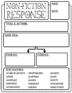 Here's a great nonfiction response form.