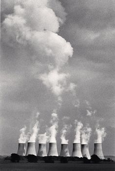 Take parts of industrial photos to make other pictures... of similar or contradictory images ....Ratcliffe Power Station, Study 21, Nottinghamshire, England, 1984, by Michael Kenna