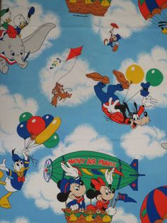 Vintage Mickey Mouse Twin sheet set -includes flat, fitted, and pillowcase