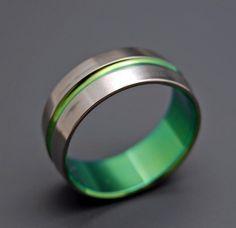 Inspired by Green Titanium Wedding Bands by MinterandRichterDes