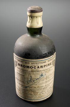 Bottle of bromocarpine nerve tonic, Paris, France, 1870-1930