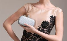 High Quality 2014 New Diamands Dots Champagne Strass Women Evening Handbag Purse Brial Clutch Sac de Soiree Bolsa de noche $29.99