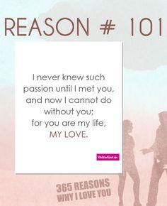 Reasons why I love you #101
