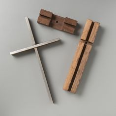 Unity Cross - Steel and Weathered Solid Black Walnut