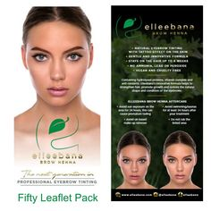 Henna for Brows is becoming such a popular treatment for so many salons. Have these Elleebana Brow Henna leaflets to hand and on display to help your salon get more Brow Henna clients. What Is Henna, Henna Brows, Eyebrow Tinting, Natural Eyebrows, Salon Business, Leaflets, Natural Shapes, Up Hairstyles, Lush