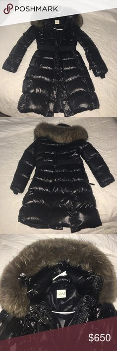 SAM. INFINITY Down Coat Worn twice! NWOT Shell: 60% Polyester, 40% Nylon Lining: 100% Nylon Fur:100% Natural Raccoon Fur, Origin: Finland Down Fill: 80% Pure Goose Down, 20% Feathers Dry clean only SAM. Jackets & Coats Puffers