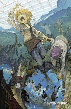 The Promised Neverland from zzyzzyy's print shop Manga Anime, Fanarts Anime, Otaku Anime, Anime Characters, Anime Art, Style Kawaii, Anime Triste, Anime Kunst, Manga Covers