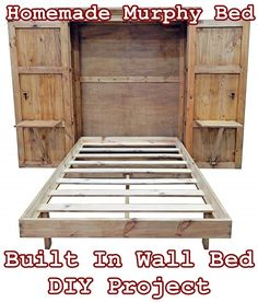 Bed room Homemade Murphy Bed Built In Wall Bed DIY Project - Homesteading - Tiny House Furniture Car Build A Murphy Bed, Murphy Bed Desk, Murphy Bed Plans, Murphy Bed Frame, Tiny House Furniture, Home Furniture, Murphy Furniture, Painted Furniture, Furniture Design