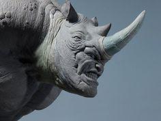 Rhino Sculpture 5 by loqura.deviantart.com on @deviantART
