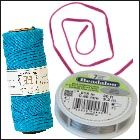 Shop jewelry stringing materials. Guide to stringing materials and what closures to use