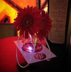#c2mdesigns #floral #floraldesign #centerpiece #cocktail #bar #club #mohegansun #connecticut #vistalounge #corporateevent #corporatebranding #branding #red #gerbera #minimalist #simplicity #metal #rocker #pair #LED #cool #custom #designsthatrock Designer: #christinemccaffery Event producer: @nxteventboston