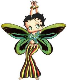 Butterfly Betty Boop ~ For more Betty Boop graphics and greetings, go to: http://bettybooppicturesarchive.blogspot.com/ #bettyboop