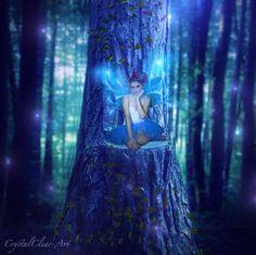 Blue Fae by© CrystalClear-Art on deviantART  (crystalclear-art.deviantart.com)  cry