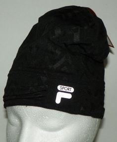 8f5a7c2b102 Fila Sport Black Gray Winter Hat Athletic Running NEW with Tags  FILA  Ski  Stay