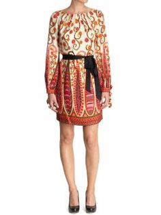 953e22eddc Milly Klarina Sleeve Dress- love the colors. Paisley Dress